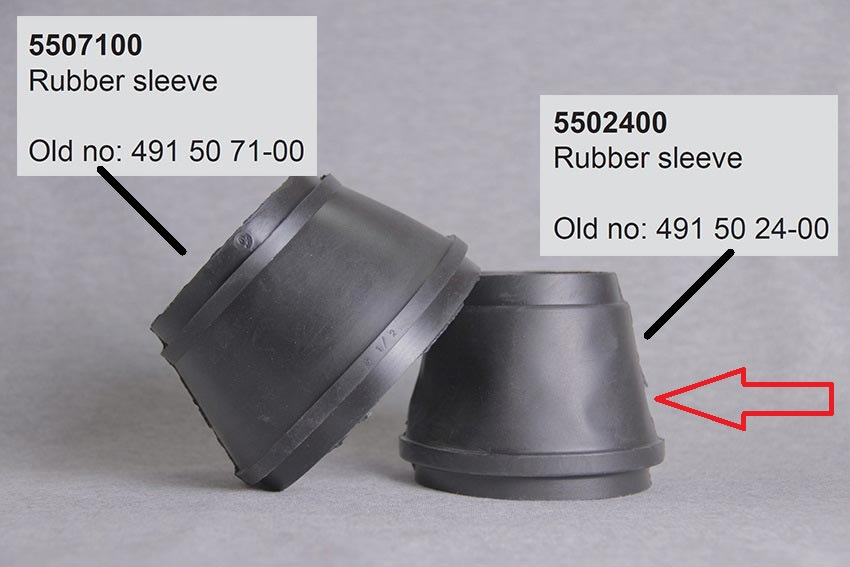 Electrolux gummipakning - Varenr. 341 / Evac 5502400 / VVS 614114341