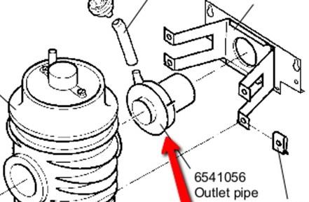 Evac Outlet pipe Varenr. 251 / Evac 6541056 / VVS 614114251